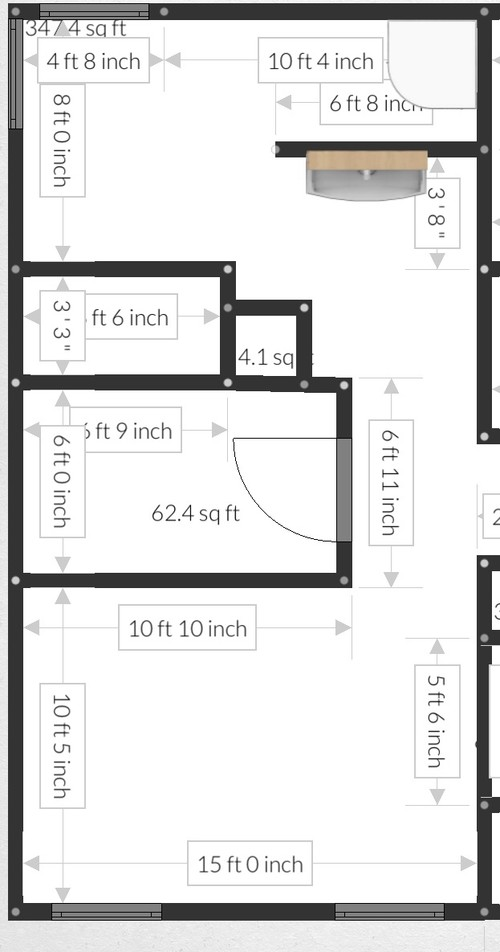 MASTER BATH Bed Closet Layout PLS HELP