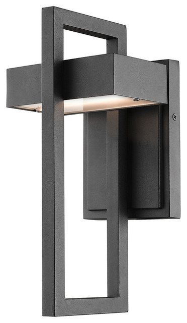 1 Light Outdoor Wall Sconce, Black