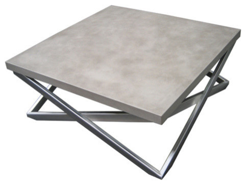 mobius concrete coffee table - industrial - coffee tables -