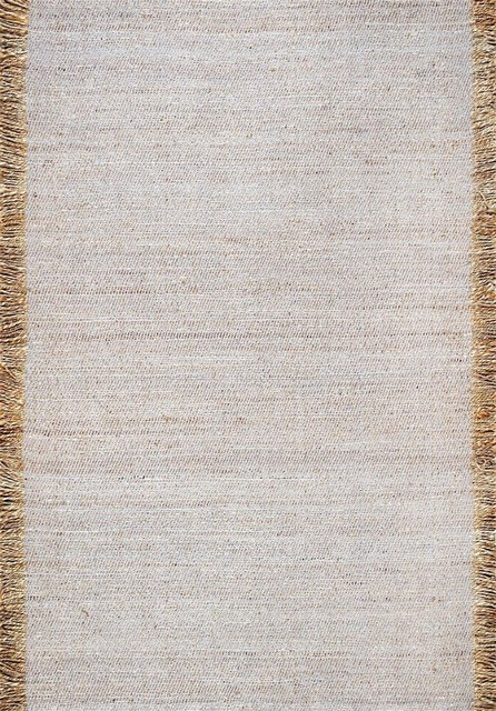 "Solid, Striped Solid Tassel Amalia Area Rug, Rectangle, Gray, 8&x27;6""x11&x27;6""."