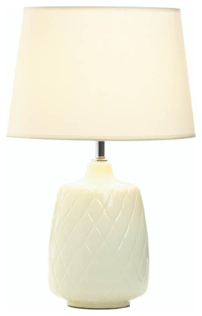 Quilted Diamonds Table Lamp, Doe Li Touch Lamp