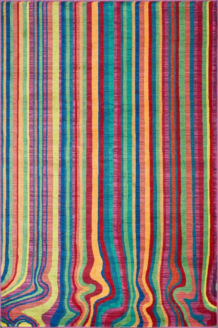 Loloi Madeline 5&x27;2x7&x27;7 Power Loomed Rug, Stripe.