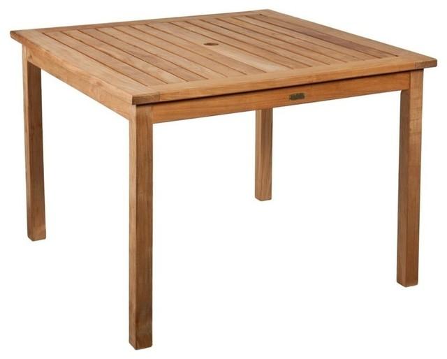 Southern Enterprises Teak Square Patio Dining Table