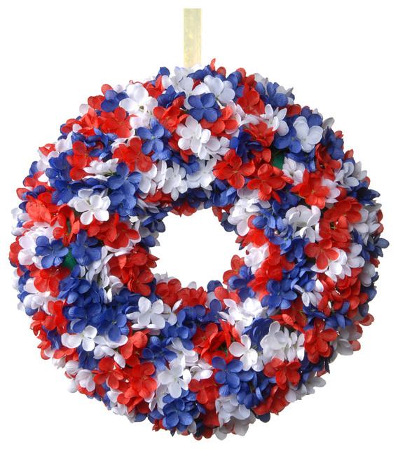 14 Patriotic Hydrangea Wreath.