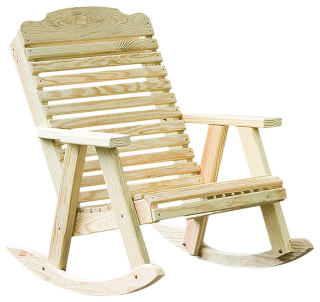 Pressure Treated Pine Traditional Porch Rocking Chair Traditional Outdoor