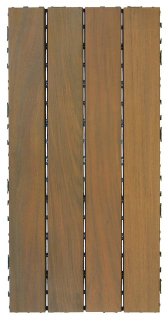 "Double-C Ipe Wood Deck Tiles, 24""x12""."