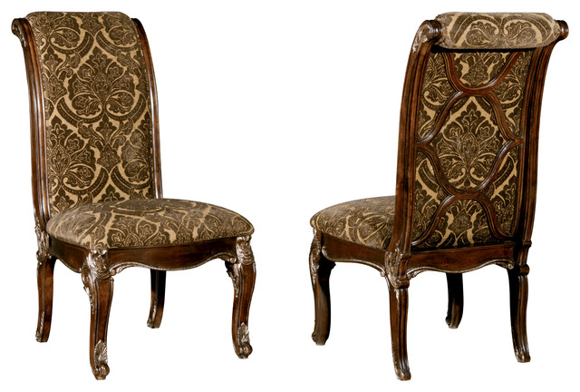 Pleasant A R T Home Furnishings Gables Upholstered Back Side Chairs Set Of 2 Machost Co Dining Chair Design Ideas Machostcouk