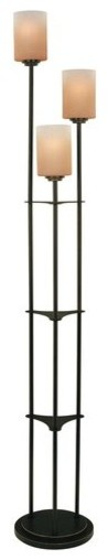 Bess 3-Light Floor Lamps, Dark Bronze.