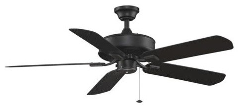 "50"" Edgewood Wet Location Ceiling Fan, Black"