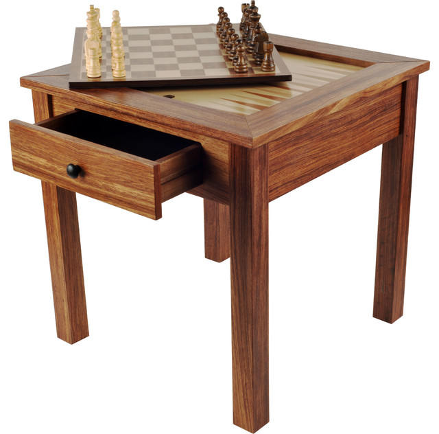Charmant Wood 3 In 1 Chess, Checkers And Backgammon Table
