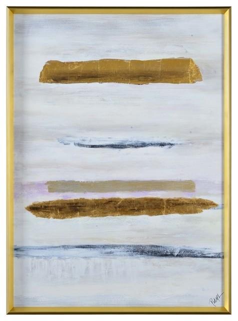 """Missa 48"""" Large Rectangular Wall Art Matte/Gold"""
