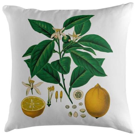 Vintage Lemons Cushion, 45x45 cm