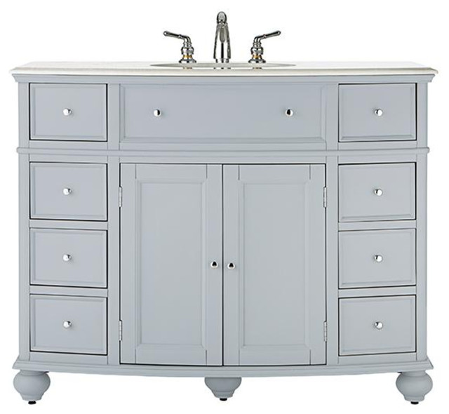 45 Curved Bath Vanity Bathroom Vanities And Sink