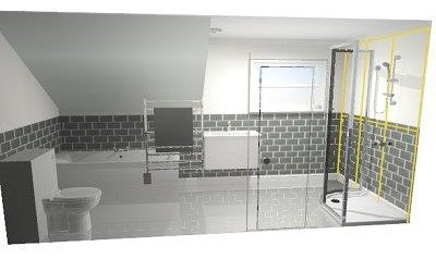 Awkward Long Narrow Bathroom Design HELP
