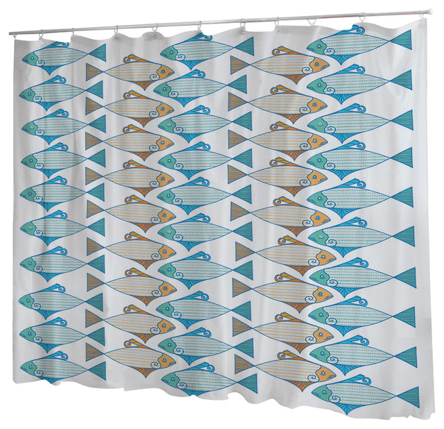 Uneekee Tessellated Fish Shower Curtain - Shower Curtains - by uneekee