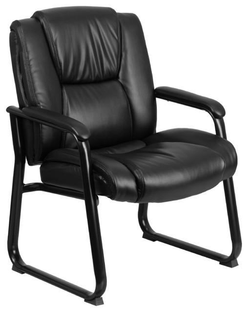 Chicago Leather Big N Tall Swivel Armchair Black
