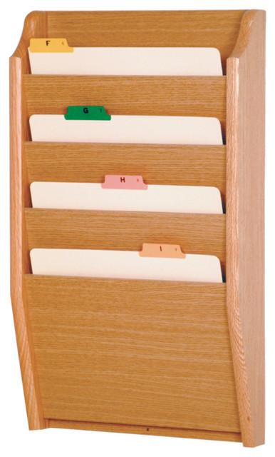Wooden Mallet 4 Pocket Letter Size File Holder, Light Oak ...