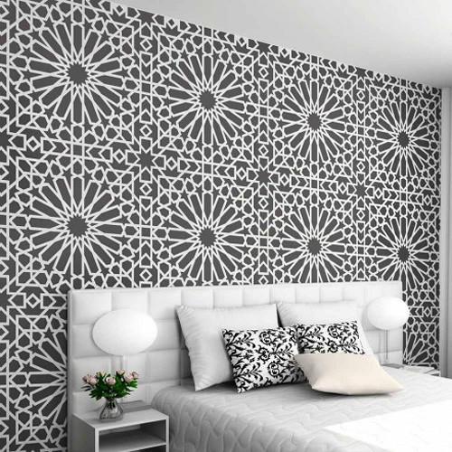 Medina Tile Moroccan Stencil, Trendy Stencil Designs For DIY Home Renovation