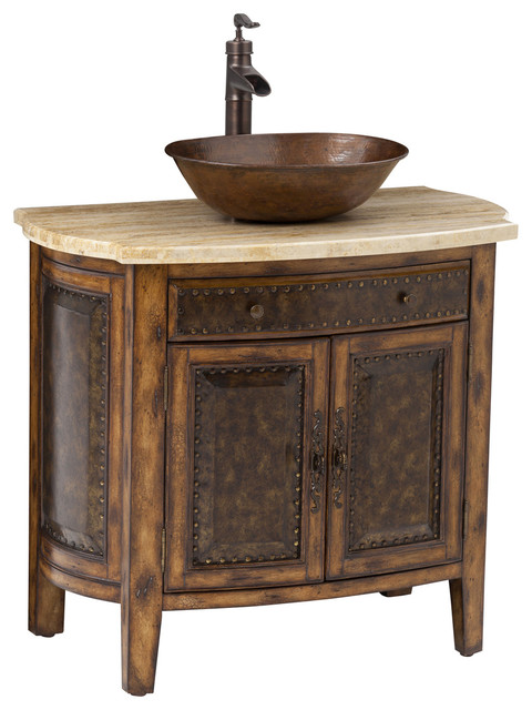 Bathroom Vanity Vessel rustico vessel sink chest - traditional - bathroom vanities and