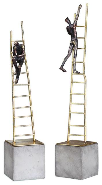 Uttermost Ladder Climb Sculpture S/2.