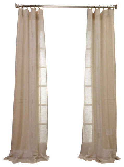 Sahara Sheer Linen Panel, Natural, 50x84.