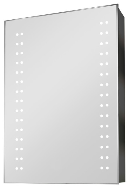 Demisting Mirrored Medicine Cabinet With Double Led Border, Without Speakers.