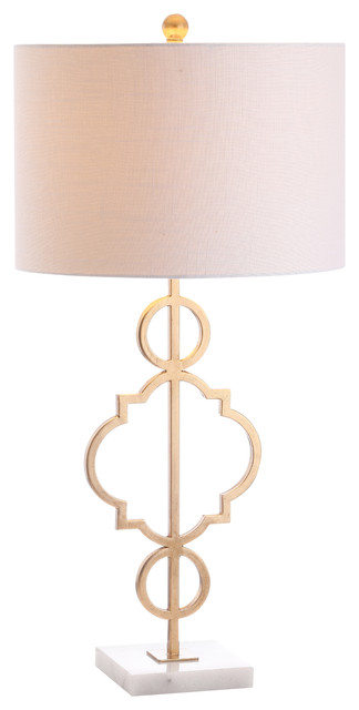 July 31 Metal Table Lamp, Gold Leaf.