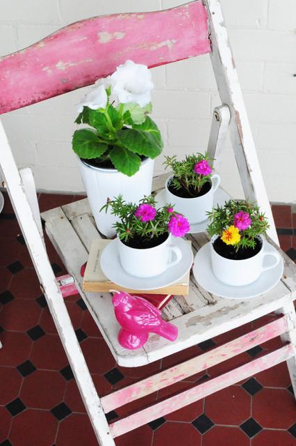 Tea cup planters craftsman