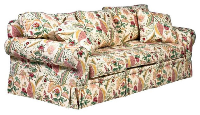 Superbe Designer Yellow Floral Sofa   $3,850 Est. Retail   $399 On Chairish.co