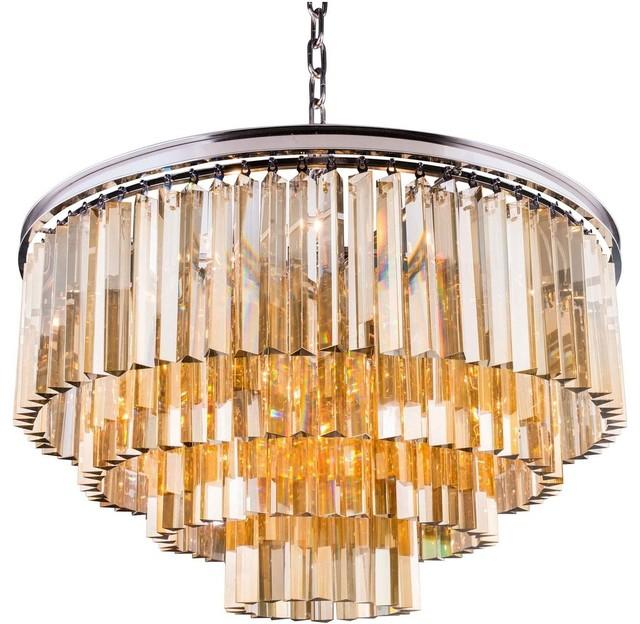 Sydney 32 chandelier polished nickel golden teak crystal sydney 32 chandelier polished nickel golden teak crystal royal cut crystal aloadofball Choice Image