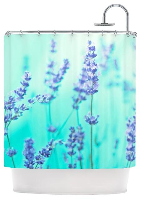 Monika Strigel Mint Lavender Teal Purple Shower Curtain