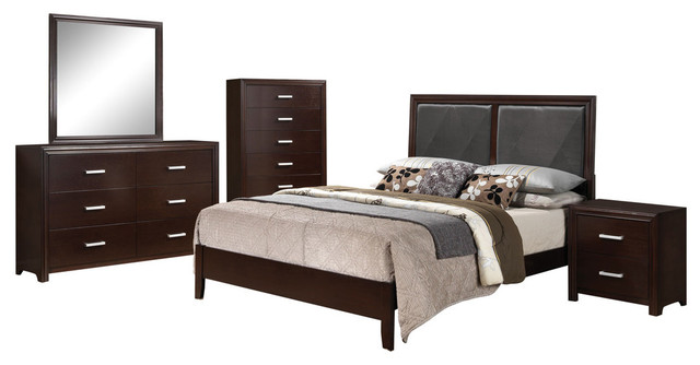 Acme Ajay 4-Piece Bedroom Set, Eastern King.