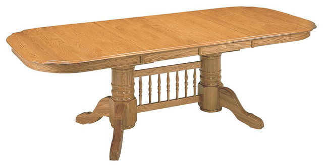 Captivating Mastercraft GS Furniture Classic Trestle Dining Table CL2T429631  Traditional Dining Tables