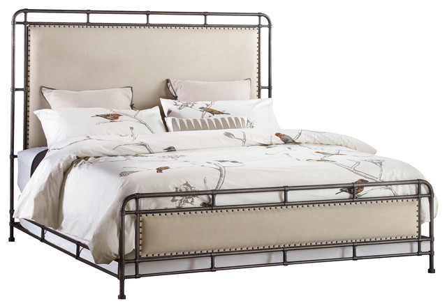 Slumbr Metal Upholstered Headboard, Queen.