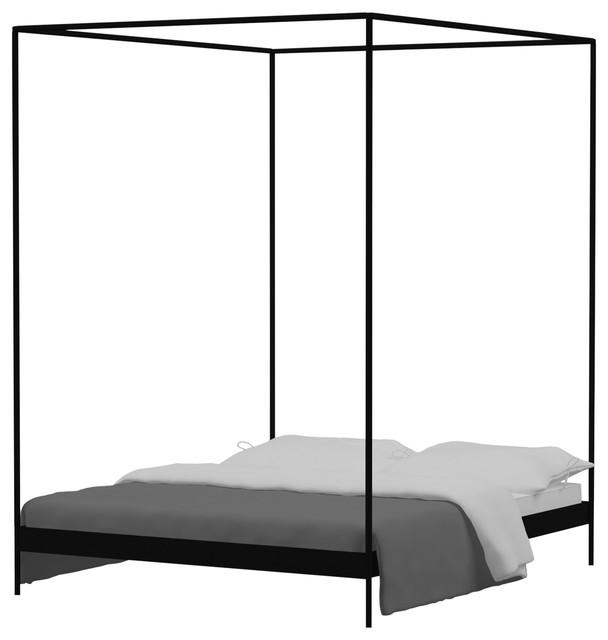 Eton 4-Poster Bed Frame, Black, King