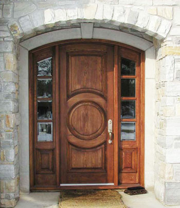 Harvest creek millwork solid wood door traditional for Traditional main door design