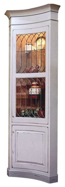 tall leaded glass corner display cabinet est retail on chairi