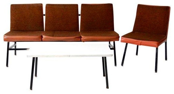 Consigned Mid Century Office Furniture 3 Piece Set Midcentury Living Room Sets By 86 Vintage