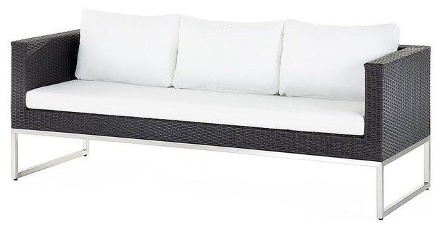 Crema Poly Rattan Garden Sofa