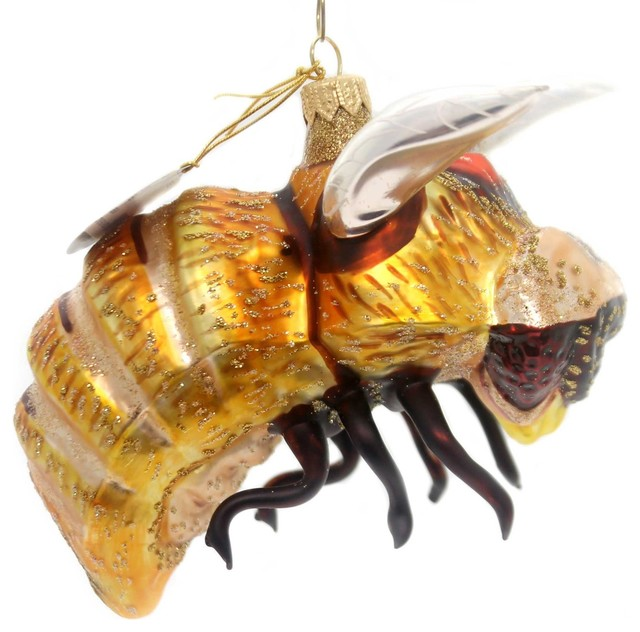 Oberfrankische Glas Bee Glass insect Bumble Sting Bug 6024 - Oberfrankische Glas Bee Glass Insect Bumble Sting Bug 6024