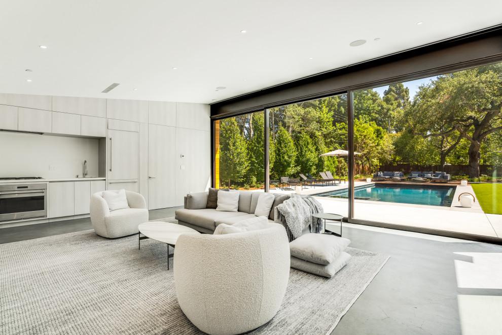 Living room - modern living room idea in San Francisco