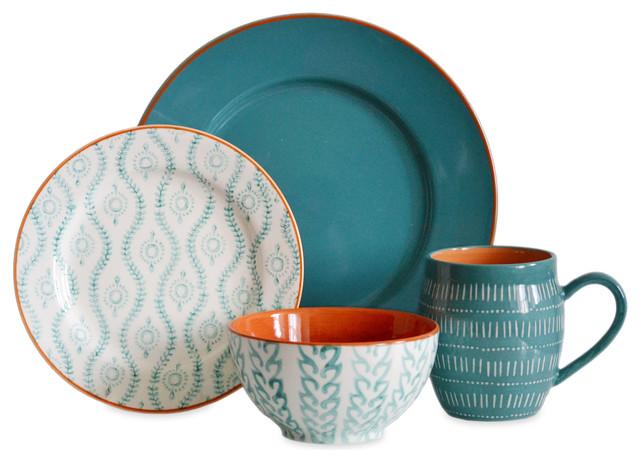 Hemisphere 16-Piece Dinnerware Set - Eclectic - Dinnerware Sets - by ...