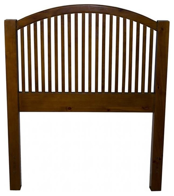 Single Arch Spindle Headboard Honey Twin Transitional
