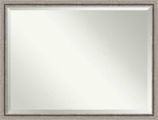 """Bathroom Mirror Oversize Large, Bel Volto Silver: Outer Size 43 X 33""""."""