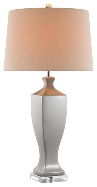 Stein World 99875 Table Lamp, Ceramic Crystal Hern, Dark Gray Transitional  Table