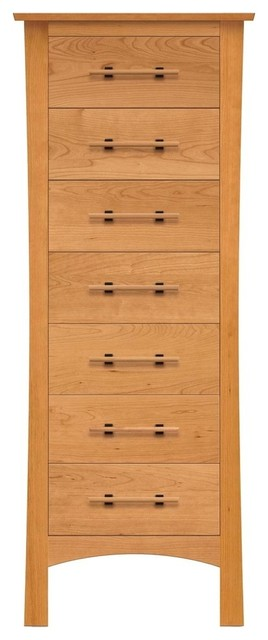 Copeland Furniture Monterey 7 Drawer Dresser, Autumn Cherry.