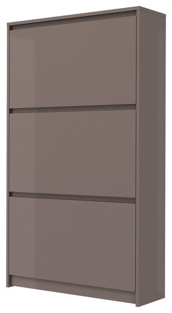 Bright 3-Drawer Shoe Cabinet - Contemporary - Shoe Storage ...