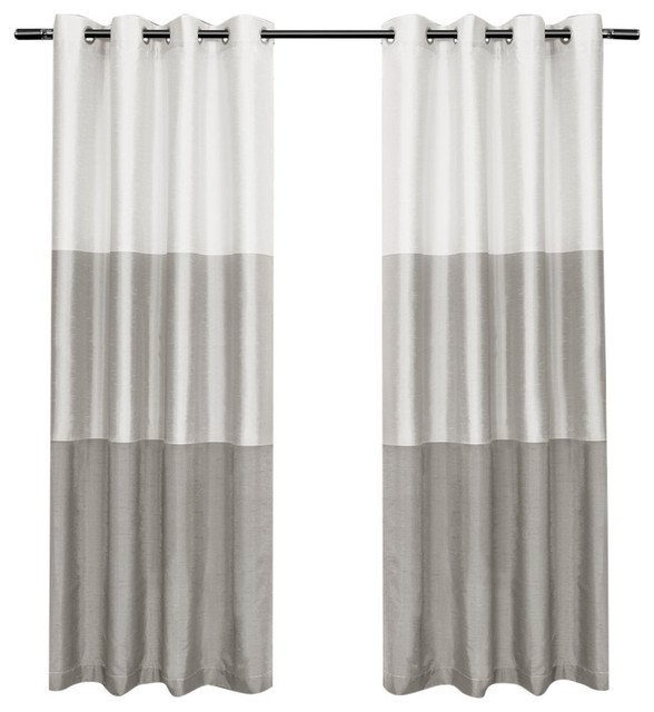 "Seraphina Grommet Top Curtains, Set Of 2, Dove Gray, 54""x84""."
