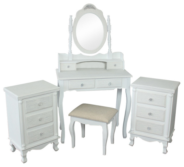 White Bedroom Furniture 5 Piece Bedroom Furniture Set Lila Range