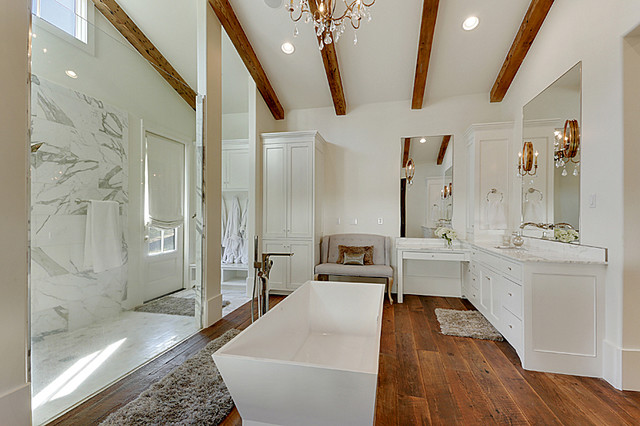 Modern Farmhouse Master Bath Farmhouse New Orleans